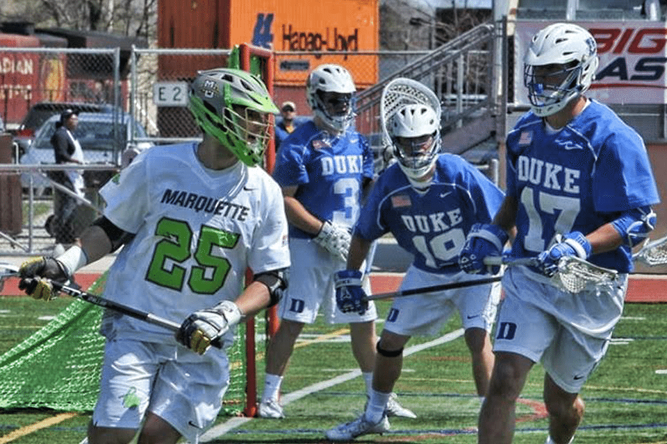 Marquette MLAX & Duke MLAX pledge their game