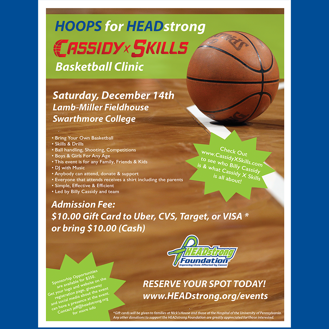 Hoops for HEADstrong Holiday Basketball Clinic